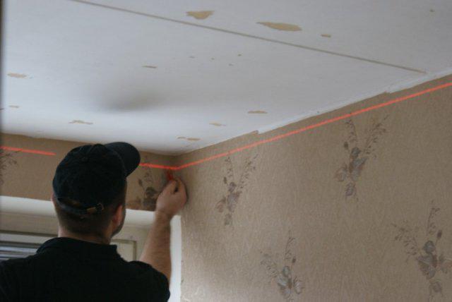 Montáž strečových stropov foto