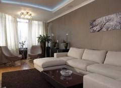 Идеи интерьера в гостиной комнате квартиры