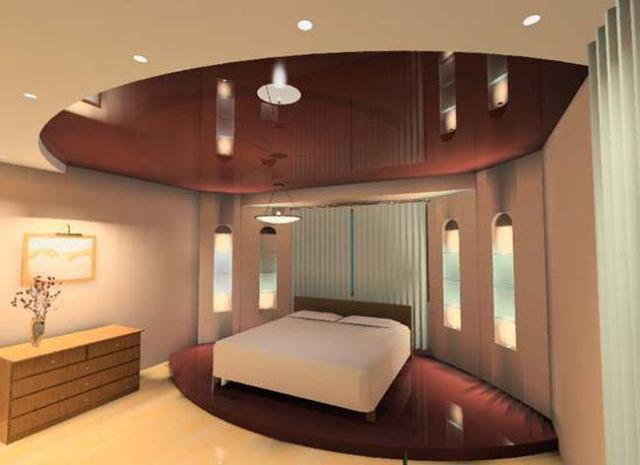 Дизайн потолков в зале квартиры