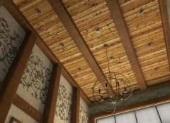 Чем лучше подшивать потолок в деревянном доме?