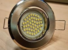 Использование светодиодных светильников для натяжных потолков