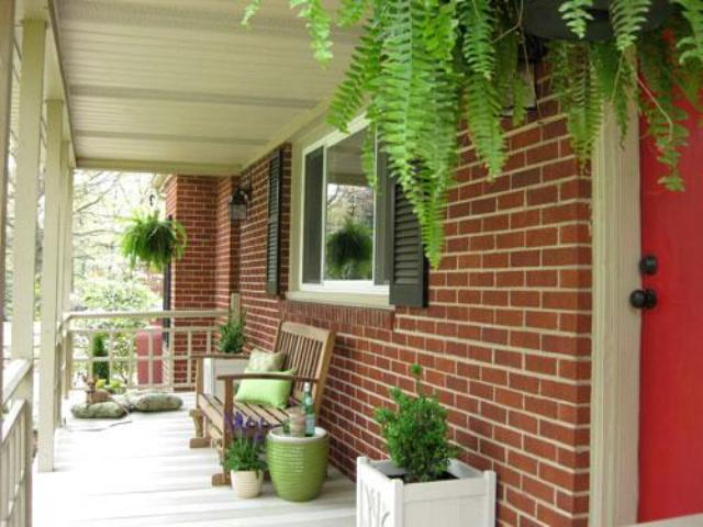 45 best images of small porch garden ideas - small red brick.