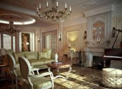 Использование в оформлении интерьера классического стиля