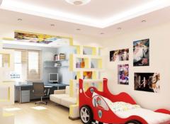 Выбираем потолок и освещение для детской комнаты