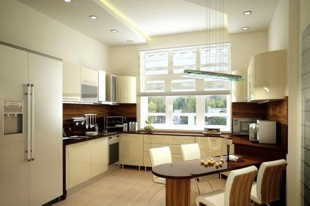 подвесные потолки на кухне фото
