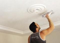 Как выполняется шпаклевка потолка?