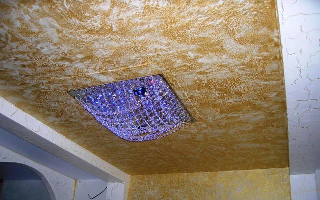 Декоративная шпаклевка потолков своими руками видео
