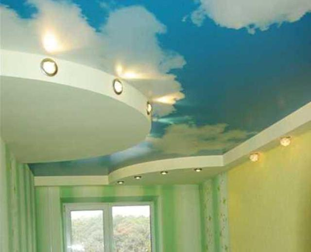 Фигурный потолок из гипсокартона своими руками, волна, овал и 11