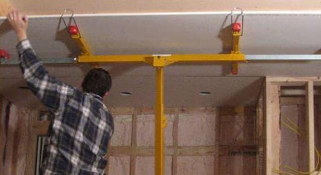 Inštalácia sadrokartónu na strop samotná