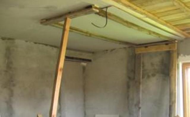 Fixture za pritrditev suhih zidov na strop