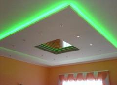 Различные варианты дизайна потолков из гипсокартона в зале