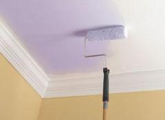 Белим потолок водоэмульсионной краской