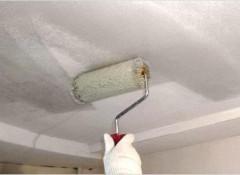 Восстанавливаем побеленный потолок
