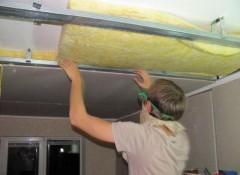 Как утеплить бетонный потолок?