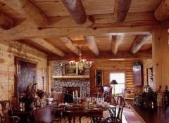 Как в деревянном доме ремонтировать потолки?