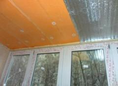 Как утеплить потолок пеноплексом?