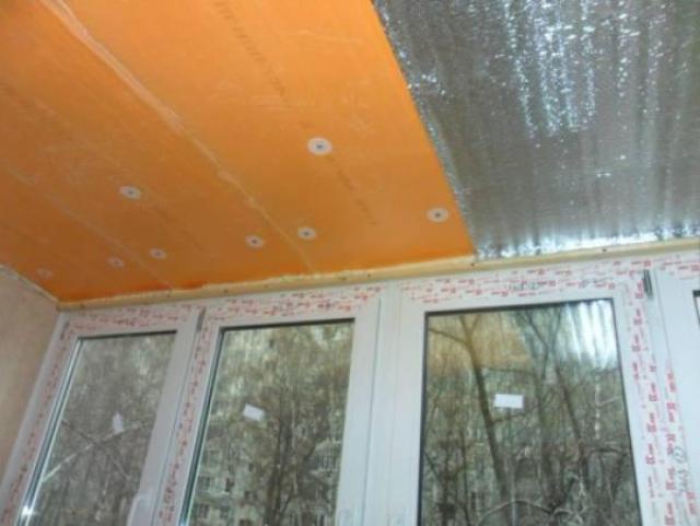 Утепление балкона технология укладки пенофола под пеноплекс..