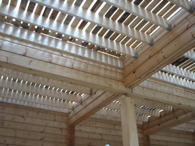 деревянные перекрытия в загородном доме