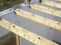 Как создается межэтажное перекрытие из дерева?