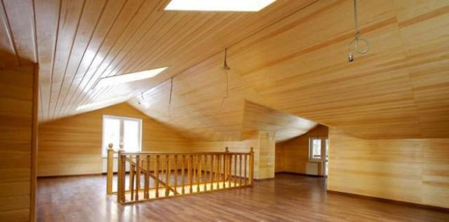 Потолок из имитации бруса своими руками 71