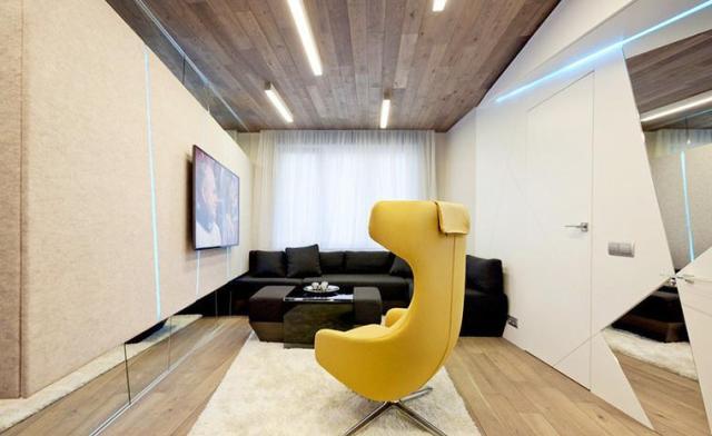 ламинат на потолке фото интерьеров