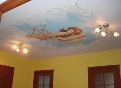 Варианты и тонкости применения фресок на потолке