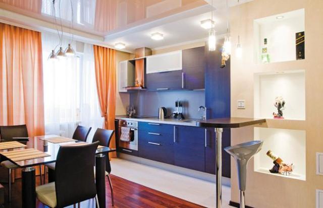 Натяжные потолки на кухне, цены, фото, установка в.