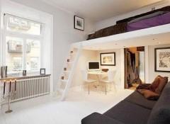 Экономим место в комнате — кровать под потолком