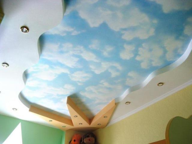 Рисунок на потолке своими руками - различные технологии нанесения