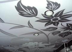 Различные технологии нанесения рисунка на потолок