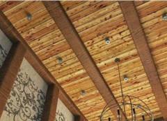 Разновидности и монтаж подшивных потолоков из дерева