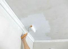 Технология и хитрости покраски потолка валиком