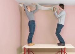 Как оклеить потолок обоями самостоятельно?