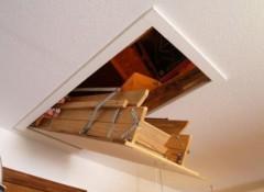 Виды и особенности потолочных люков на чердак