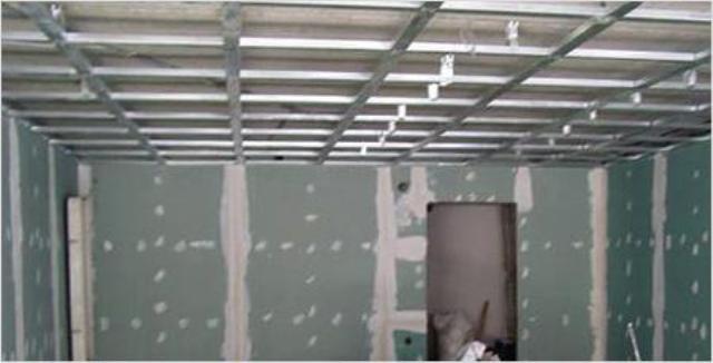 Гипсокартон потолок одноуровневый своими руками