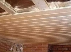 Устройство и монтаж подшивного потолка в бане