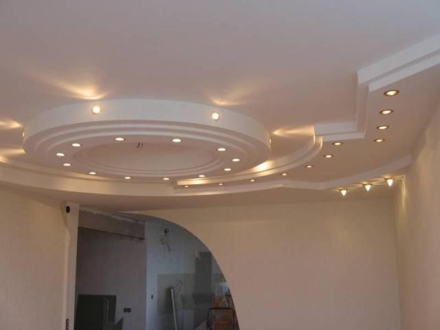 Как сделать потолок из гипсокартона когда есть балка