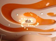 Из чего создаются и как выглядят разноуровневые потолки?