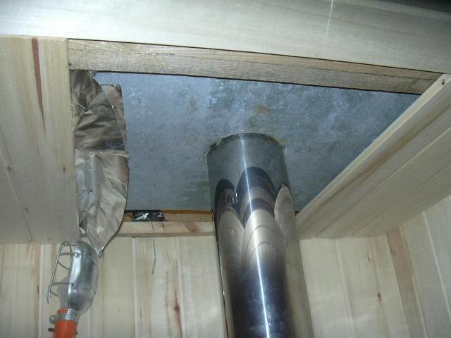 Как изолировать дымоход от потолка оголовок дымохода нержавейка