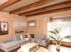 Требования и различные материалы для оформления потолочного покрытия в деревянном доме