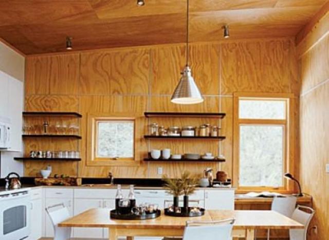 Как сделать стены на кухне на даче