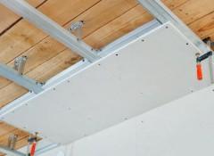 Особенности и схема монтажа гипсокартонных потолков на даче