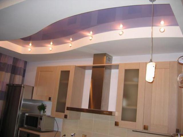 Потолки на кухне в - хрущевке - варианты оформления