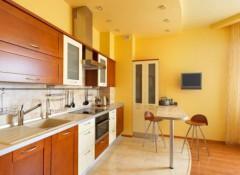 Различные варианты потолочных покрытий для кухни
