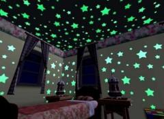 Что собой представляют светящиеся наклейки на потолок?