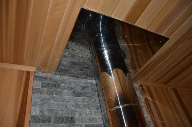 Как пройти потолок дымоход в бане аристон марко поло дымоход