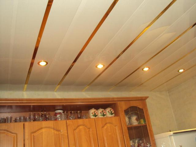 PVC ceiling in the kitchen