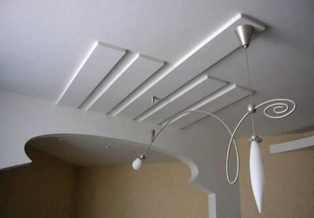 Потолок из гкл своими руками фото