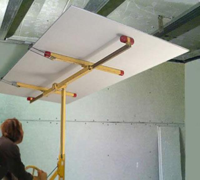 как устанавливать гипсокартон на потолок фото