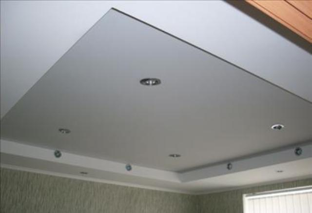 фото потолок с гкл